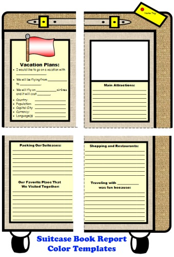 Main Character Suitcase Book Report Projects and Templates