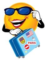Suitcase Happy Face