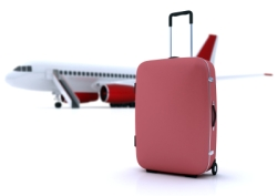 Suitcase and Airplane