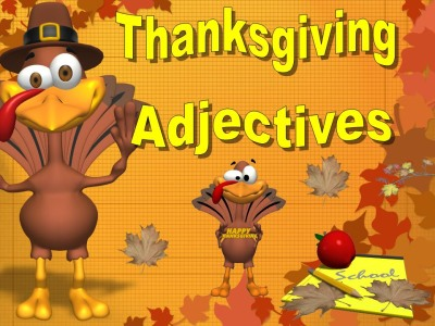Thanksgiving Adjectives Powerpoint Lesson Presentation