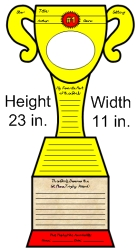 Favorite Book Report Projects Trophy Templates and Printable Worksheets Measurements