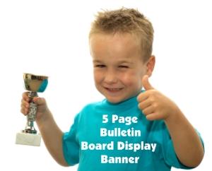 Free Trophy Book Report Bulletin Board Display Banner