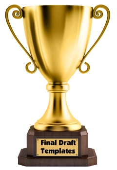 Trophy Book Report Projects Final Draft Templates