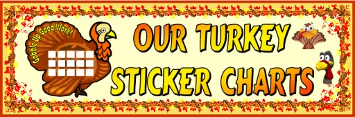 Turkey Sticker Chart Template Banner