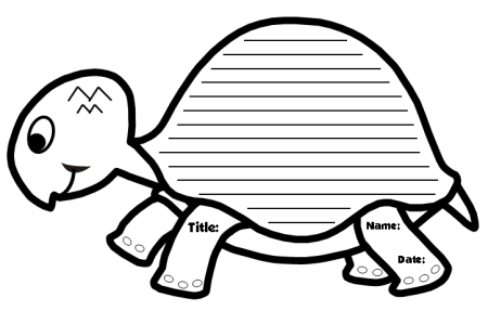 image regarding Turtle Pattern Printable known as Exceptional Turtle Creating Templates: Turtle Formed Imaginative