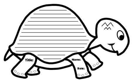 photograph regarding Turtle Templates Printable named Special Turtle Composing Templates: Turtle Fashioned Inventive