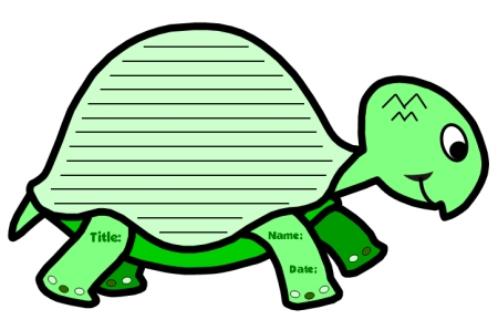 Turtle Shaped Creative Writing Templates