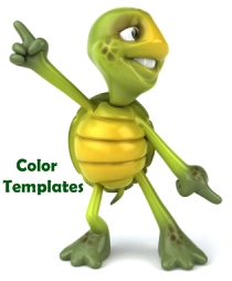 Turtle Color Templates