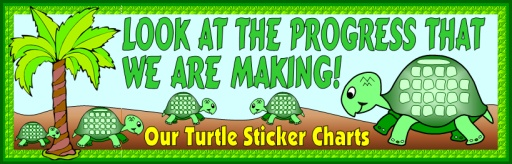Turtle Sticker Charts Bulletin Board Display Banner