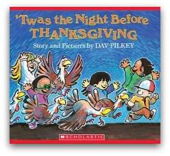 Twas the Night Before Thanksgiving Book Cover and Creative Book Report Projects