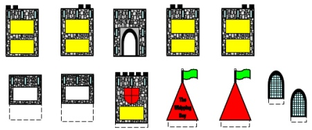 The Whipping Boy Castle Group Project Drawbridge Color Templates 2