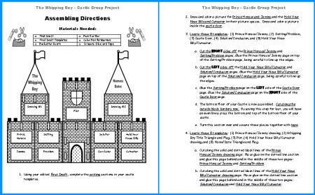 Whipping Boy Castle Project Directions