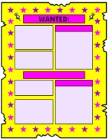 Wanted Poster Book Report Projects Yellow Templates