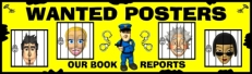 Wanted Poster Book Report Projects Bulletin Board Display Banner
