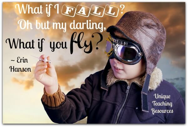 What if I fall? Oh, but my darling, what if you fly? ~ Erin Hanson