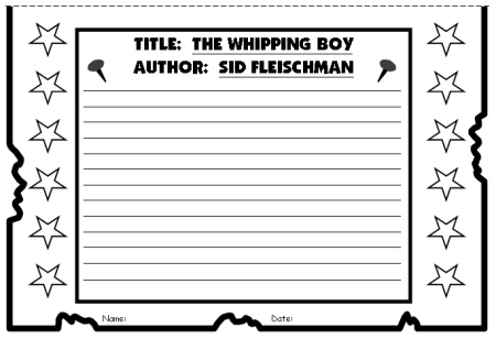 The Whipping Boy Wanted Poster Templates 2