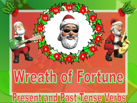 Christmas Verb Powerpoint Lesson:  Past and Present Verbs