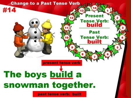 Christmas Grammar Verbs Powerpoint Presentation and Lesson Plans Activity