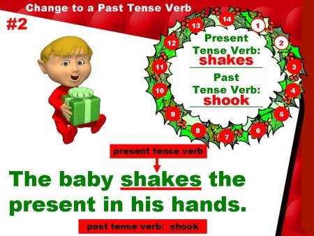 Powerpoint Christmas Grammar Lesson:  Past and Present Verbs