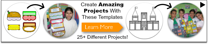 Click to view fun and unique book report project templates.