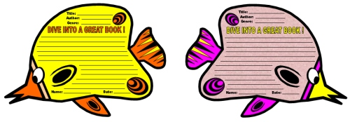Dive Into Reading Book Report Projects and Templates Butterfly Fish