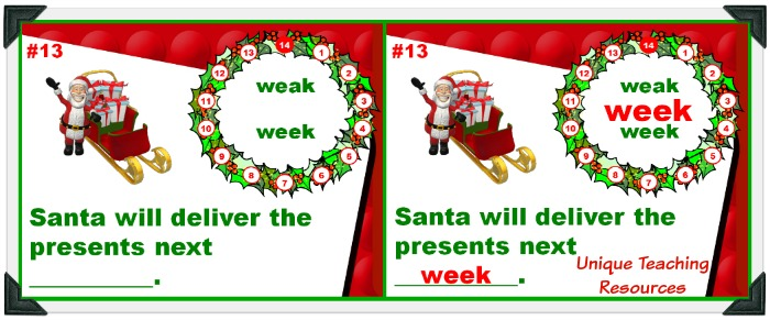 Review homophones with your students using this fun Christmas powerpoint.