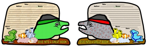 Dive Into Reading Book Report Projects Moray Eel Templates