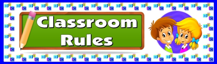 Free teaching resource to download - Classroom Rules bulletin board display banner