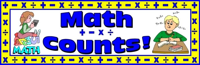 Free teaching resource to download - Math Counts bulletin board display banner