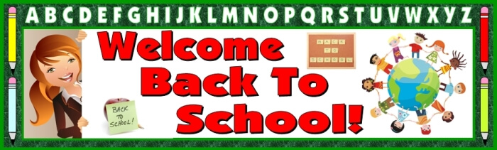 Free teaching resource to download - Welcome Back To School bulletin board display banner