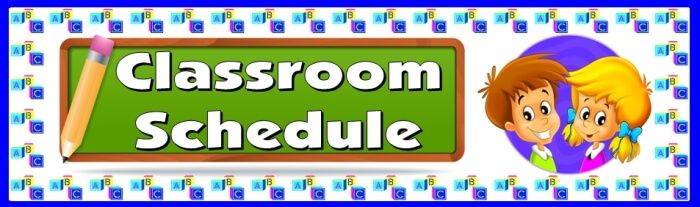 Free teaching resource to download - Classroom Schedule bulletin board display banner