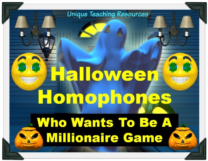 This is a fun Halloween powerpoint presentation that reviews homophones in an engaging game-like format.