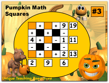 Fun and challenging Halloween math problems for your students to solve.
