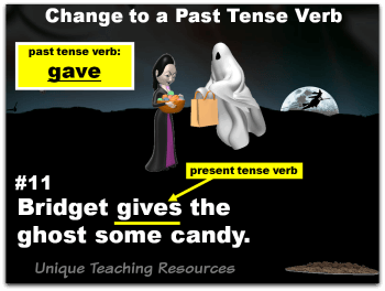 Fun Halloween powerpoint lesson that reviews verbs.