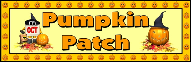 Free Halloween teaching resource to download - Pumpkin Patch bulletin board banner