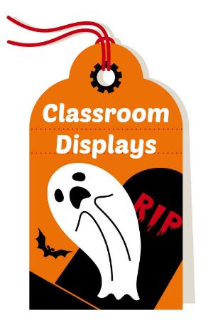 Halloween classroom and bulletin board displays