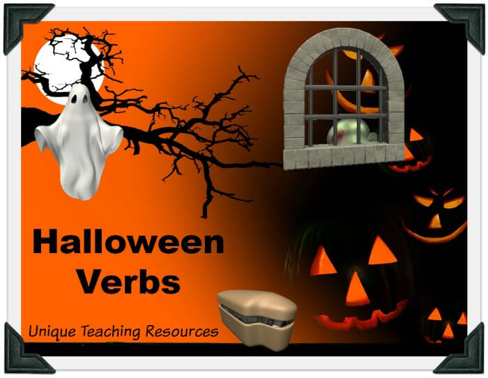 This is a fun Halloween powerpoint presentation that reviews verbs in an engaging game-like format.
