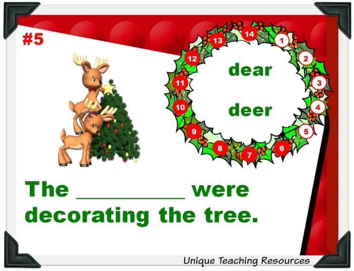 Wheel of Fortune Christmas Homophones Powerpoint Game