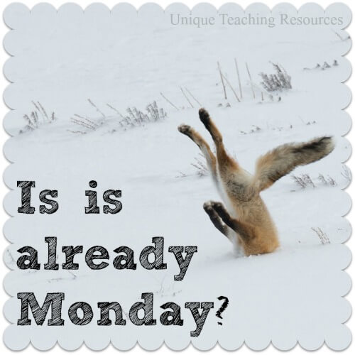 Is it already Monday?  Funny quote and graphic