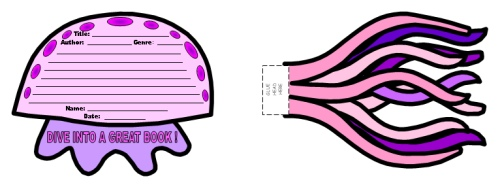 Dive Into Reading Book Report Project Templates Jelly Fish
