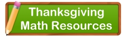 Thanksgiving Math Teaching Resources