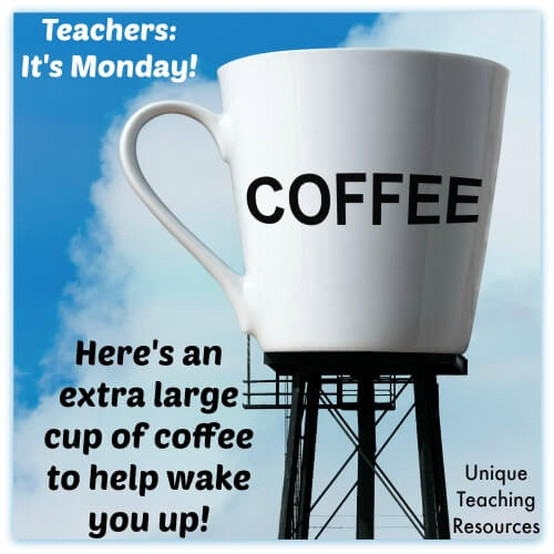 Extra large coffee for teachers on a Monday morning.
