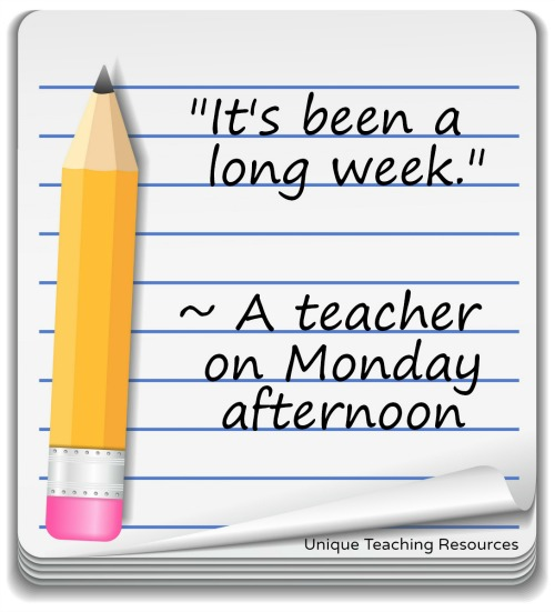 Funny teacher quote about Mondays