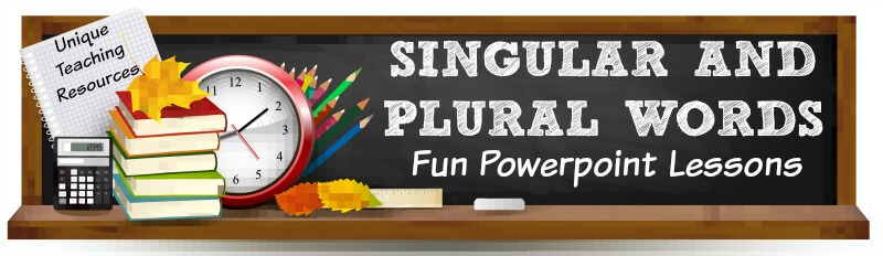 Fun powerpoint presentations for teachers to use to review plural words with their students.