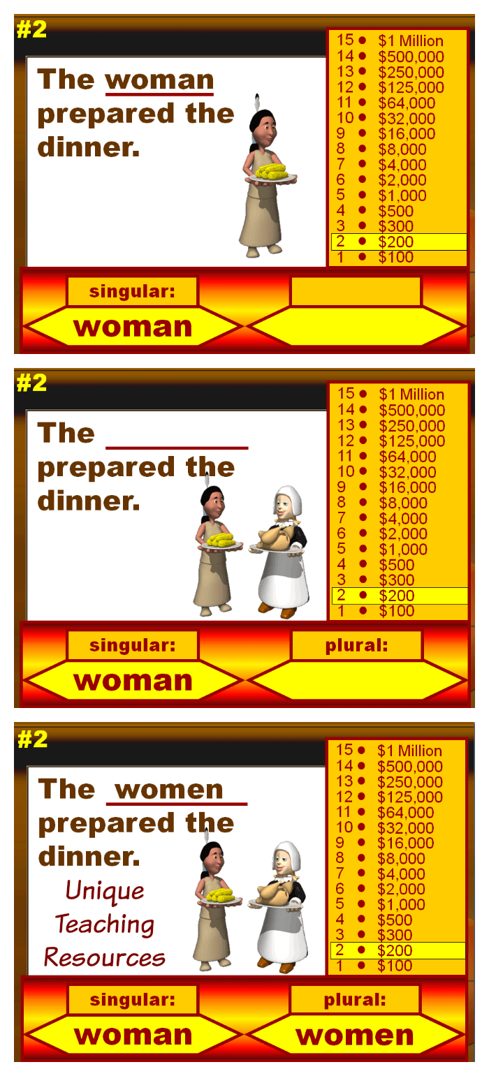 Thanksgiving Plural Words Powerpoint Lesson