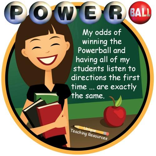 Odds of teacher winning the Powerball quote