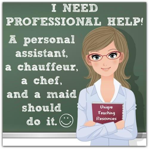 Teacher needs professional help.