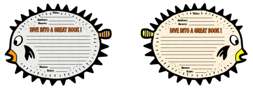 Dive Into Reading Puffer Fish Book Report Projects,  Templates, and Worksheets