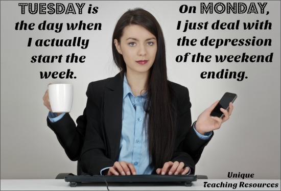 Quote about Tuesday and the work week.