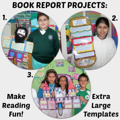 Fun and extra large book report projects.